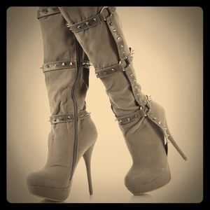 Stunning spiked boots